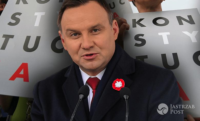 Andrzej Duda o konstytucji i sądownictwie