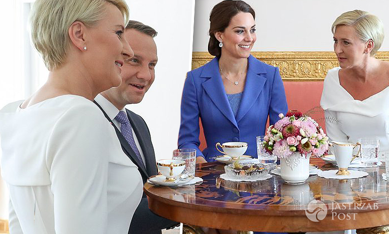 Agata Duda i Andrzej Duda na śniadaniu z Kate i Williamem