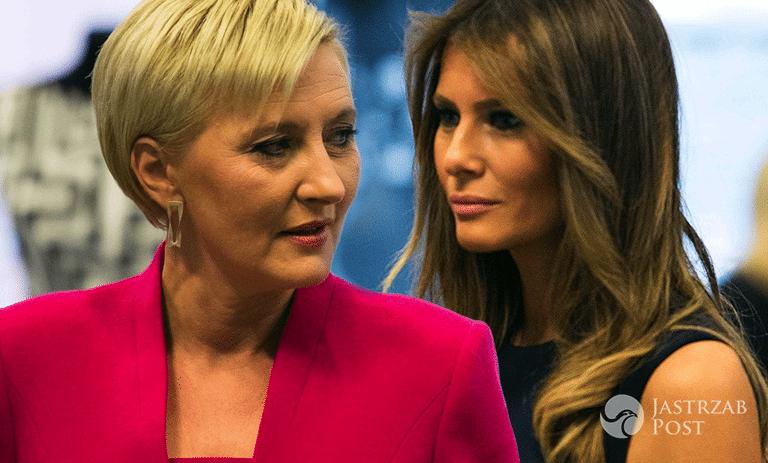 Stylizacje Agaty Dudy i Melanii Trump w Polsce