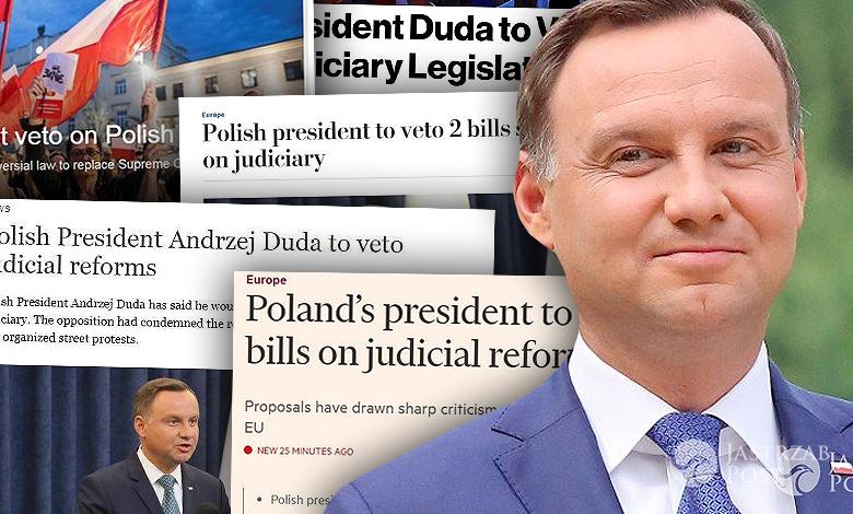 Andrzej Duda weto światowe media
