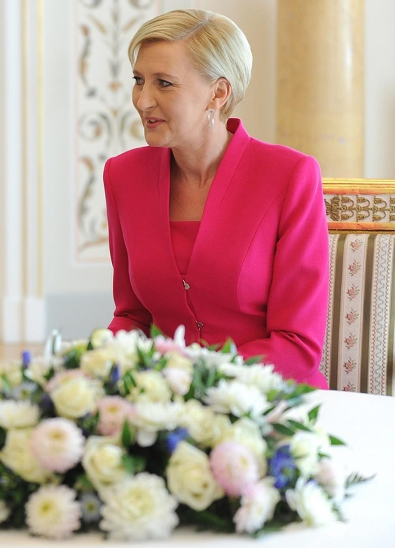 Agata Duda na spotkaniu z Melanią Trump