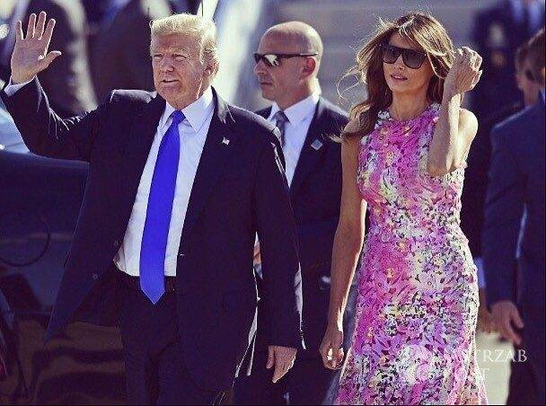 Melania Trump w sukience w cętki