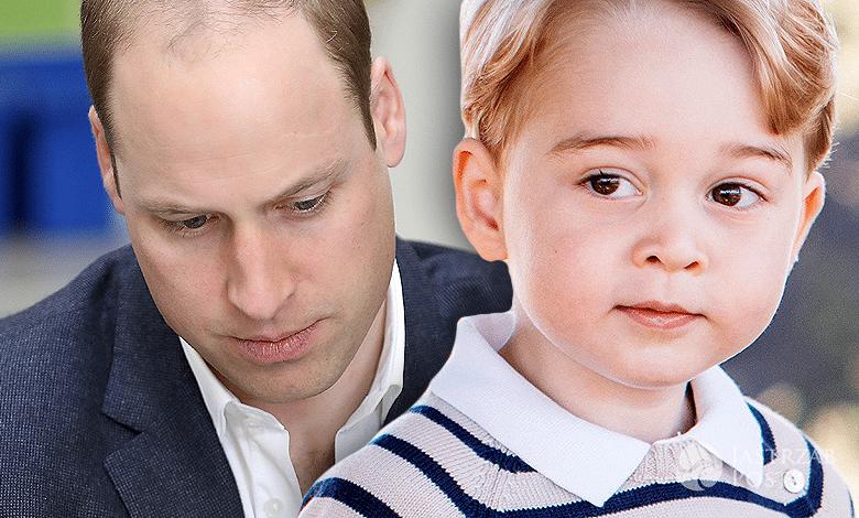 Książę George i książę William, ojciec z synem