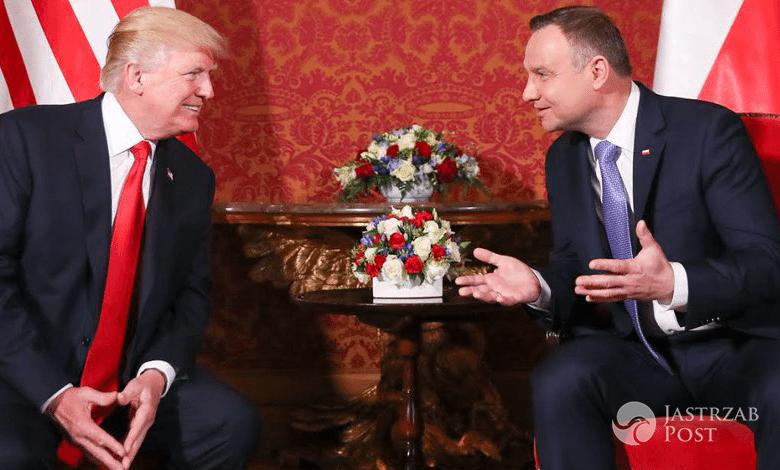 Donald Trump spotkał się z Andrzejem Dudą