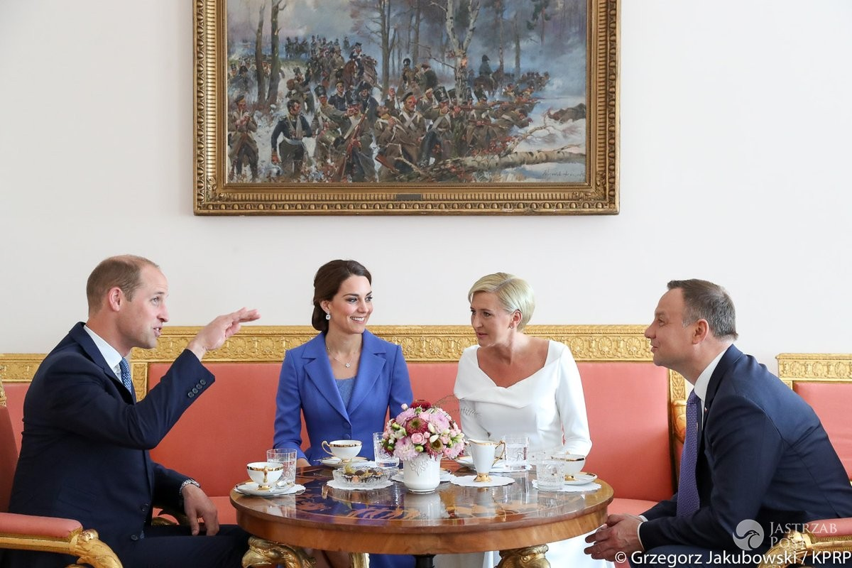 Kate i William na śniadaniu z Agatą i Andrzejem Dudą