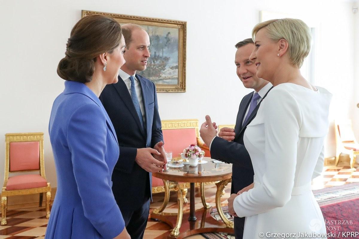 Pożegnanie Kate i Williama przez parę prezydencką