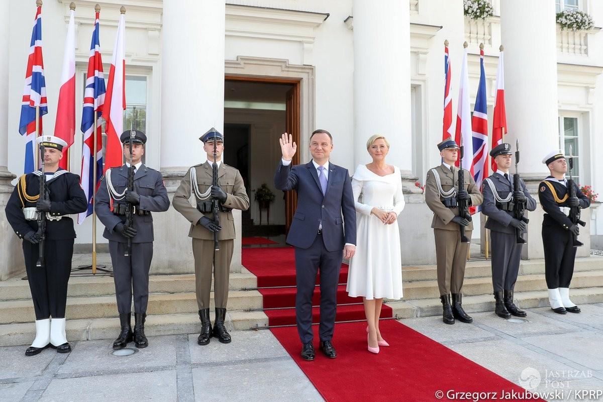 Agata i Andrzej Duda pożegnali Kate i Williama