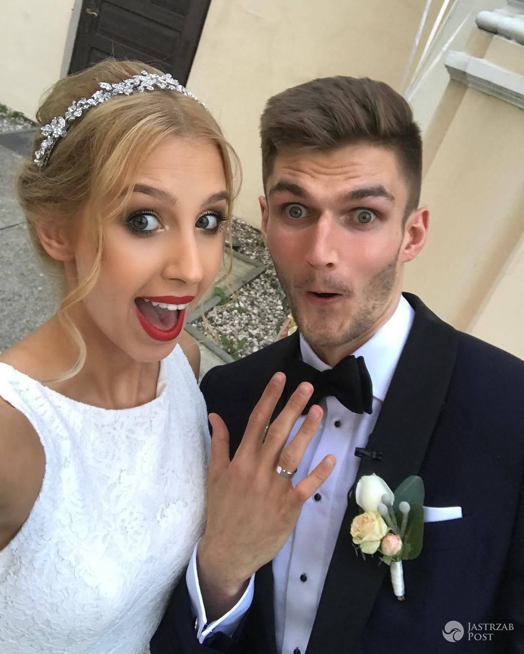 Karol Kłos i Aleksandra Dudzika - zdjęcia ze ślubu