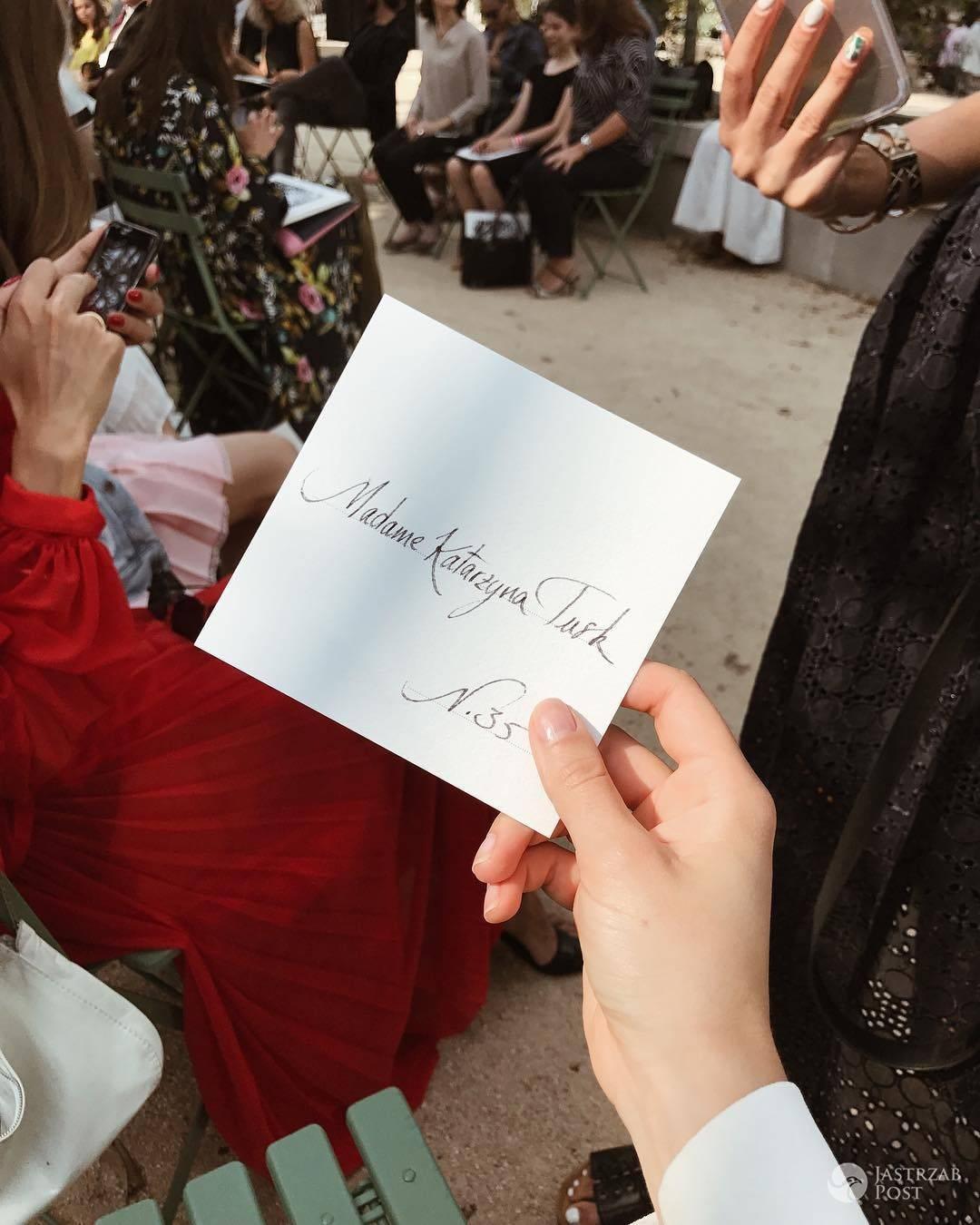 Kasia Tusk na pokazie Chanel w Paryżu 2017