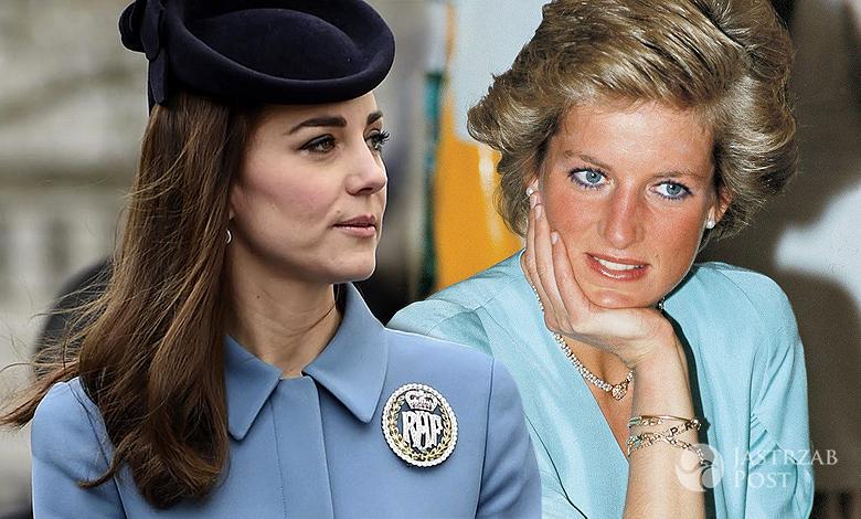 Księżna Kate płaszcz księżna Diana