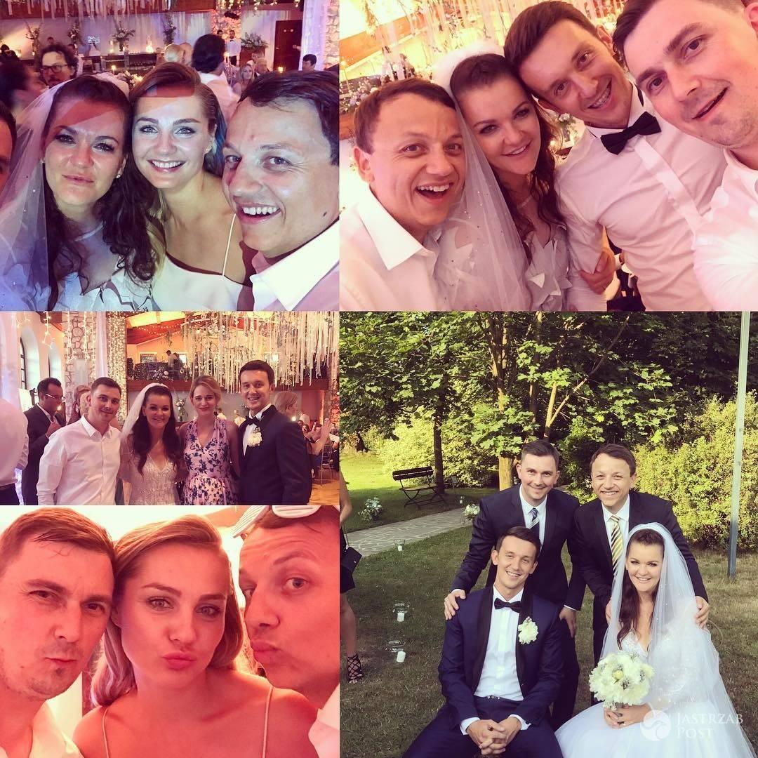 Małgorzata Socha na ślubie Agnieszki Radwańskiej