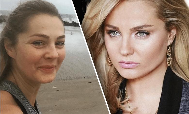 Małgorzata Socha biega po plaży bez makijażu
