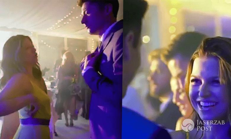 Robert Anna Lewandowscy na weselu taniec