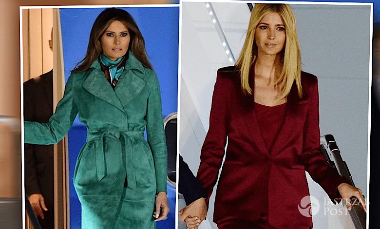 Melania Trump i Ivanka w Polsce - stylizacje