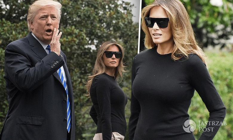 Melania Trump Donald przed wylotem do Polski
