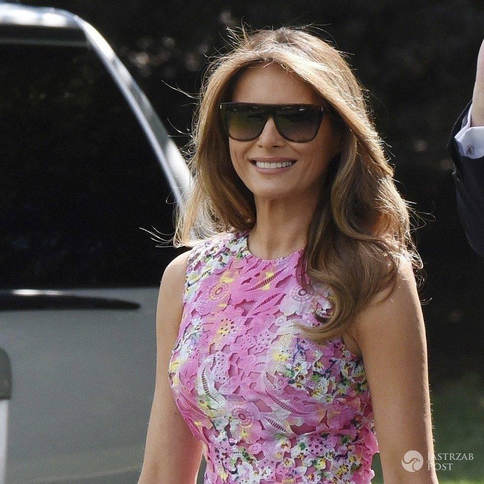 Melania Trump w sukience w kwiatki