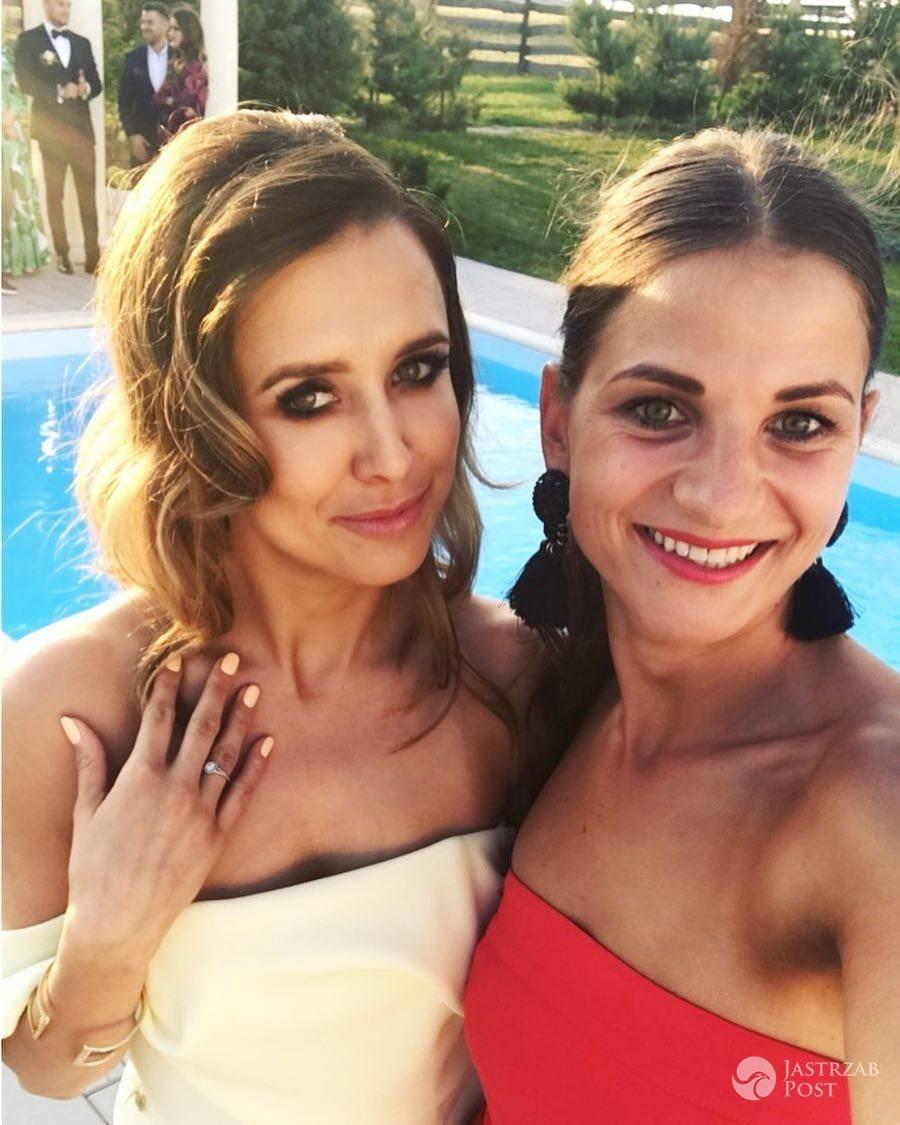 Milena Lewandowska na weselu przyjaciół