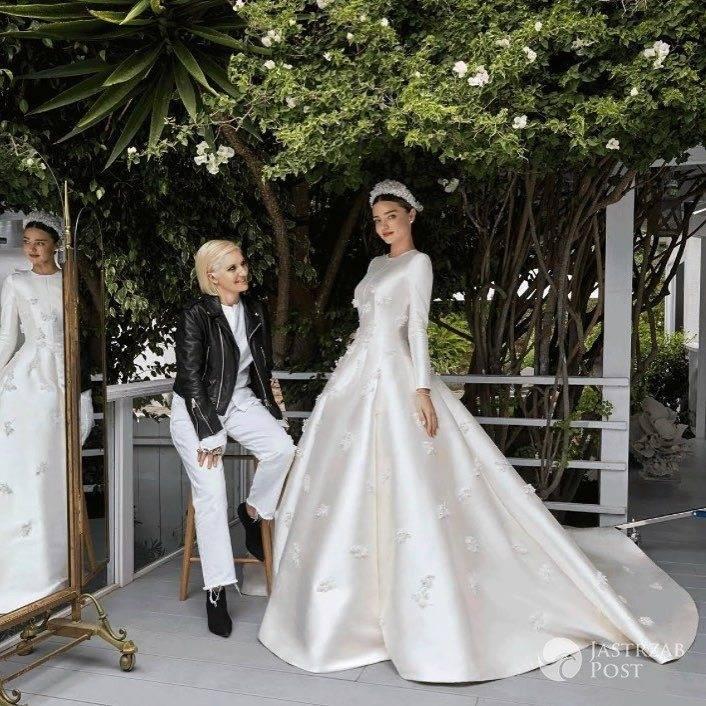 Miranda Kerr - suknia ślubna