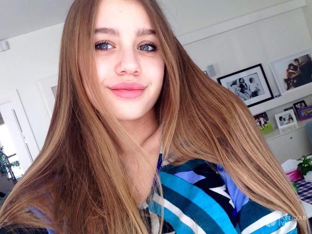 Oliwia Bieniuk w makijażu