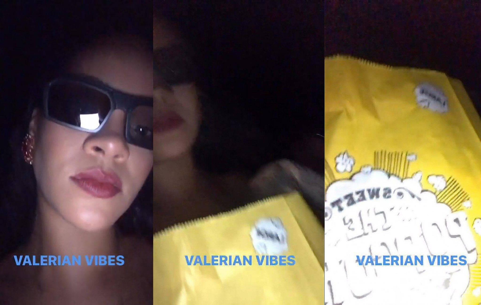 Rihanna zajada się popcornem w kinie