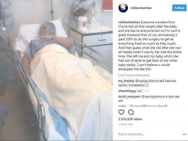 Blac Chyna po operacji