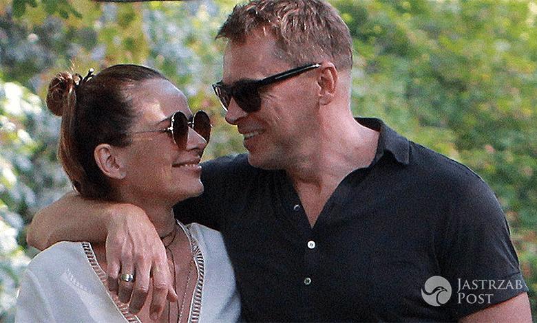 Paulina Sykut z mężem i córką