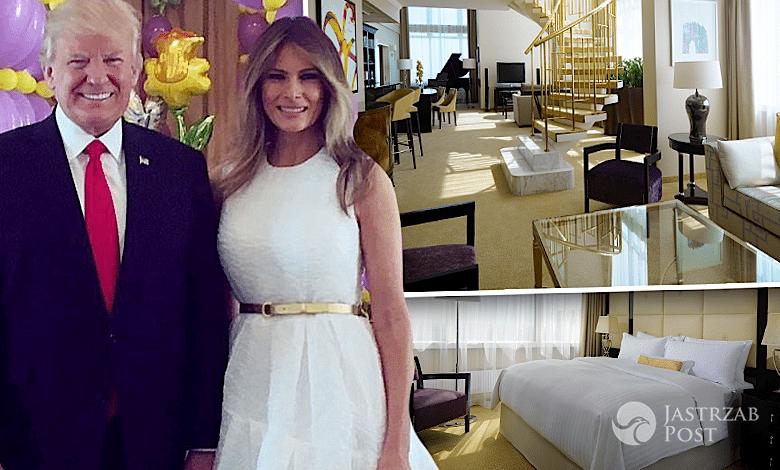 Donald Trump i Melania hotel Mariott