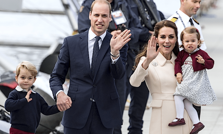 William i Kate z dziećmi George i Charlotte