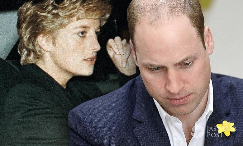 Książę William wpadka z Dianą