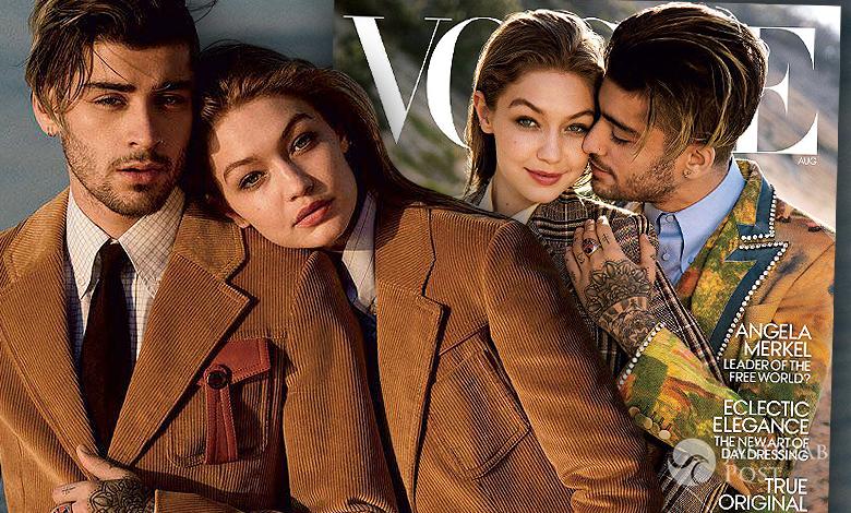 Zayn Malik i Gigi Hadid Vogue sierpień 2017