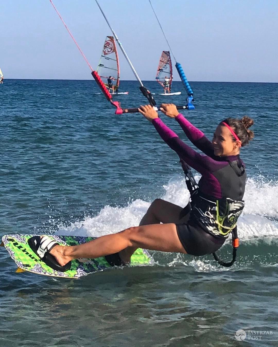 Kinga Rusin uprawiała kitesurfing na Krecie