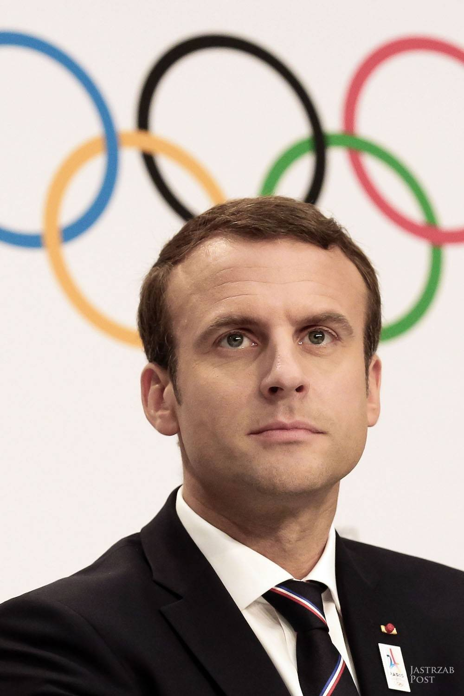 Emmanuel Macron makijaż
