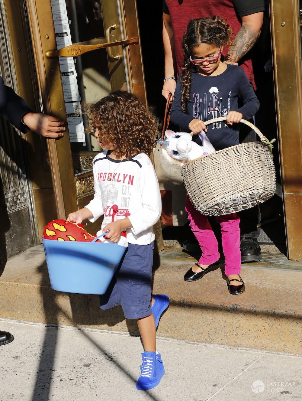 Mariah Carey i Bryan Tanaka z dziećmi