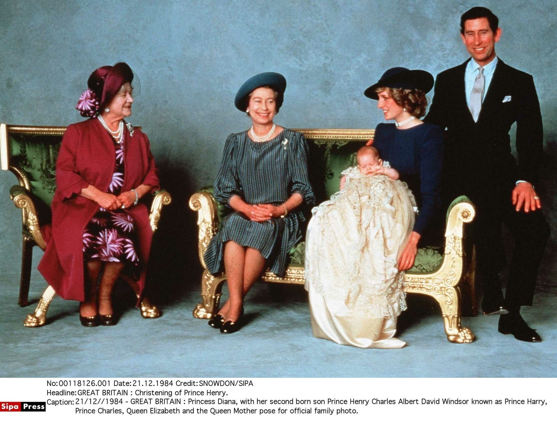 Księżna Diana z królową Elżbietą II