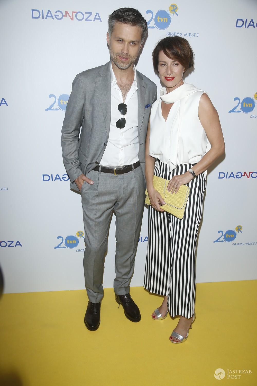 Maja Ostaszewska i Maciej Zakoscielny - premiera serialu Diagnoza TVN, 2017