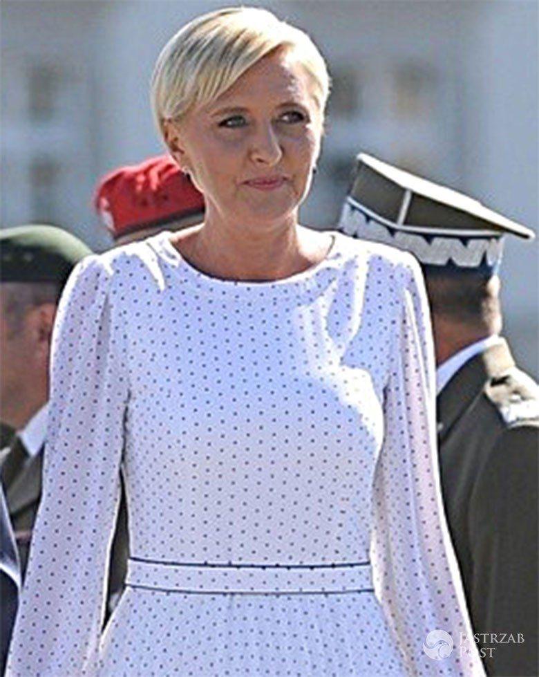 Agata Duda na obchodach Święta Wojska Polskiego 2017