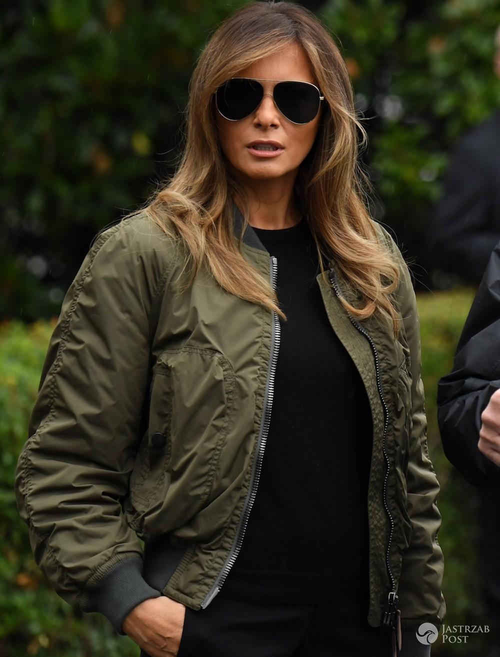 Melania Trump w kurtce bomber
