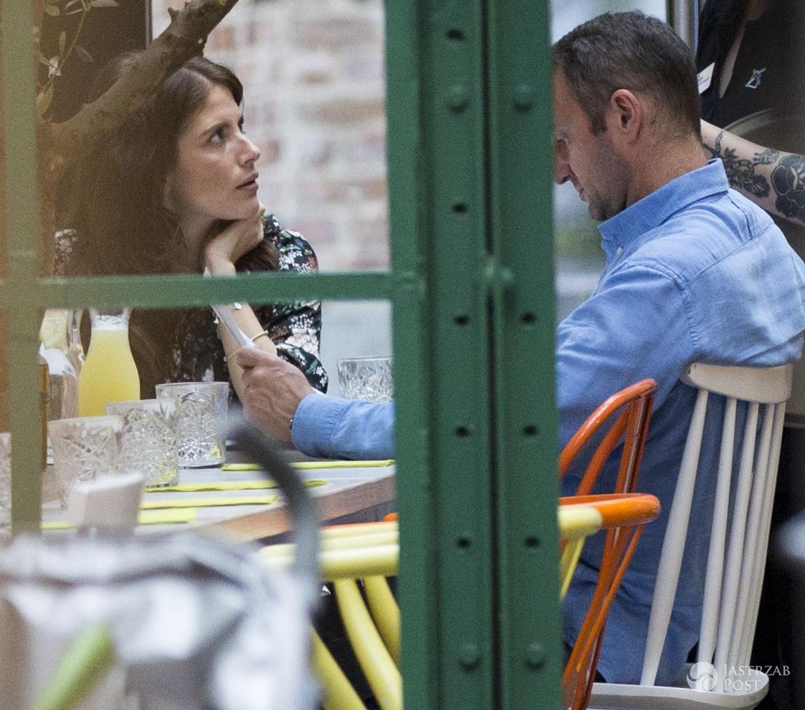 Weronika Rosati w ciąży na obiedzie z ukochanym