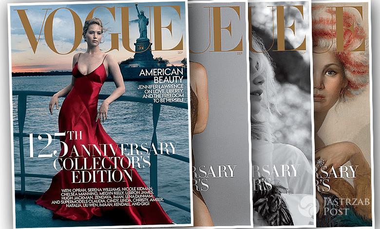 Jennifer Lawrence Na Czterech Okladkach Voguea Z Okazji 125 Lecia Kazda Zapiera Dech W Piersiach Aktorka Genialnej Sesji Slynnej Annie Leibovitz