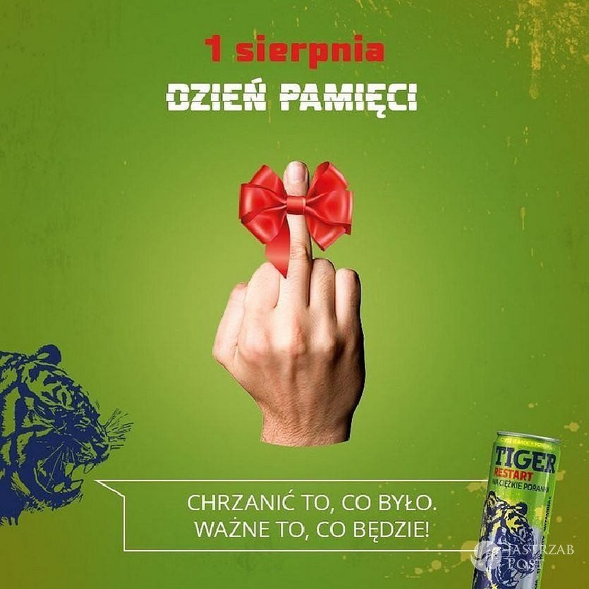 Reklama Tigera na 1 sierpnia