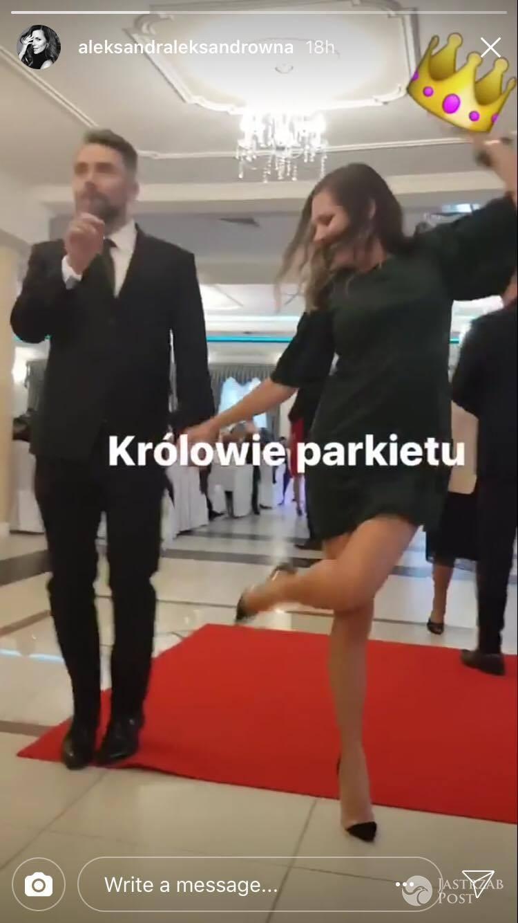 Ola Kwaśniewska i Kuba Badach wspólny taniec