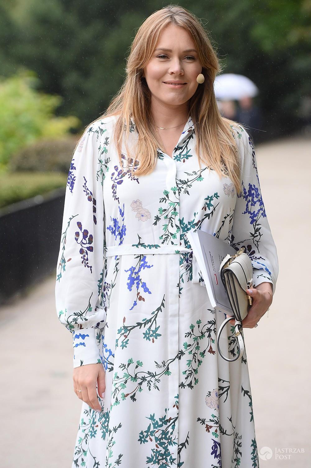 Magdalena Lamparska w ciąży na Narodowym Czytaniu 2017