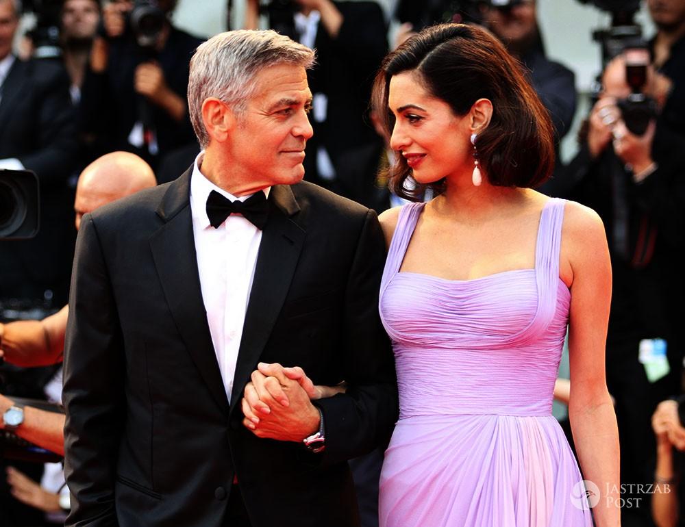 George Clooney i Amal Clooney na festiwalu w Wenecji 2017