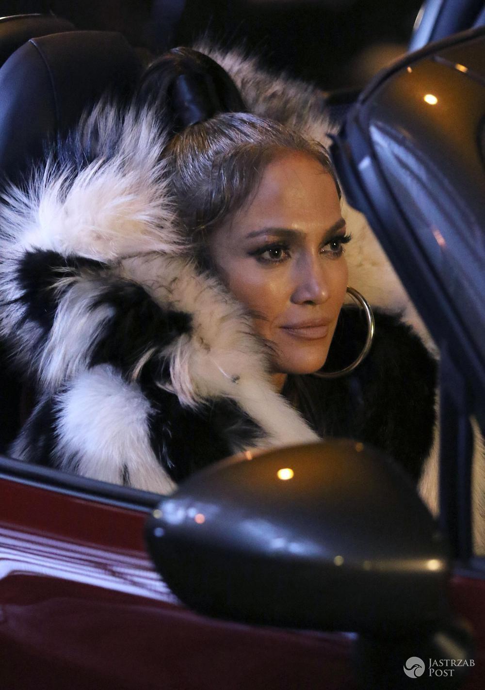 Jennifer Lopez w naturalnym futrze z szynszyli