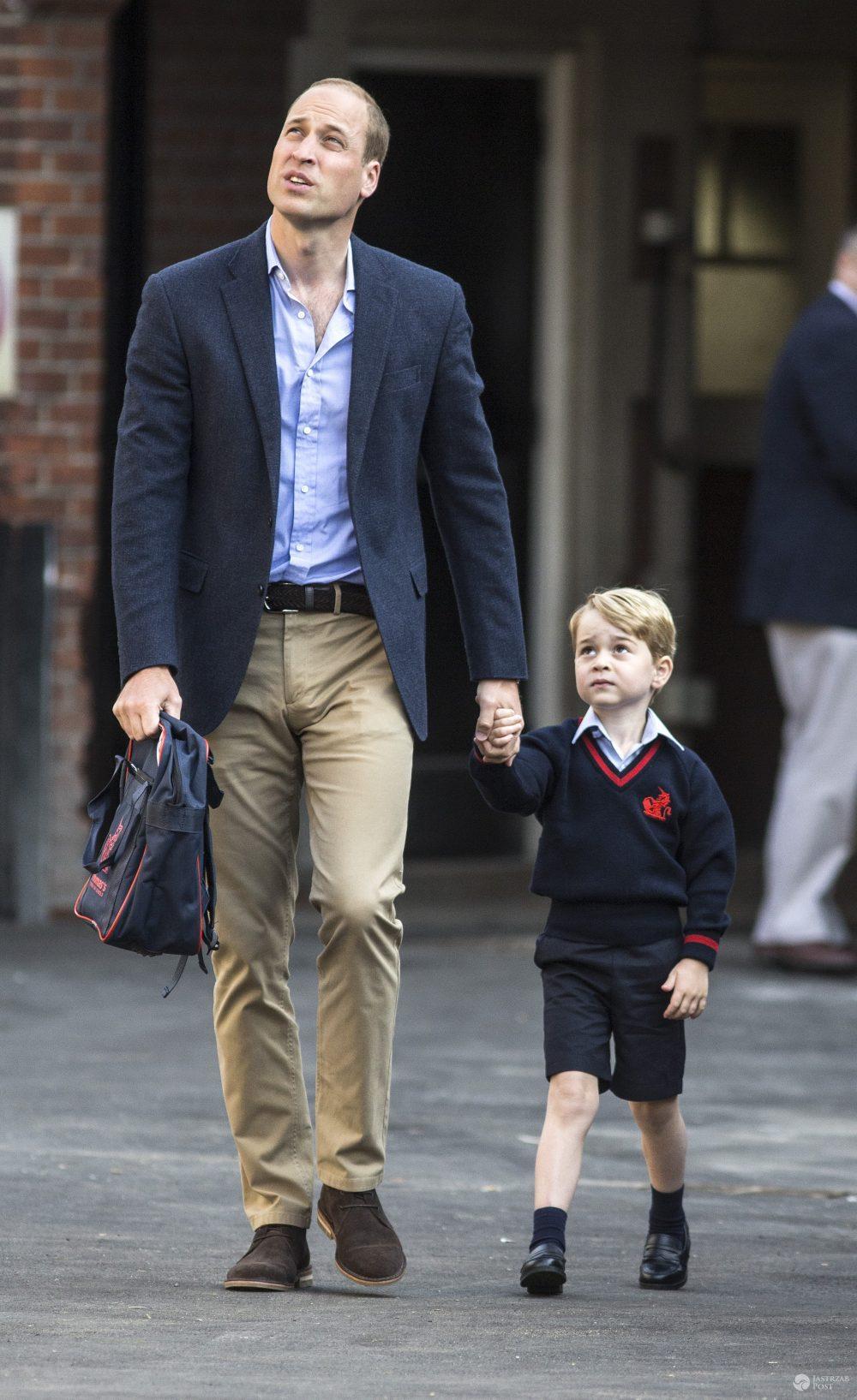 Książę George - pierwszy dzień w szkole