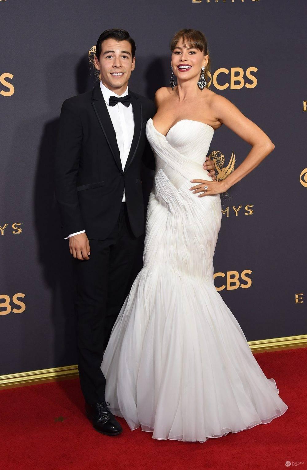 Sofia Vergara z synem na Emmy 2017