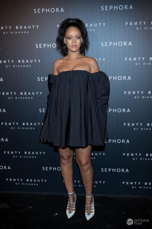 Rihanna na prezentacji swoich kosmetyków