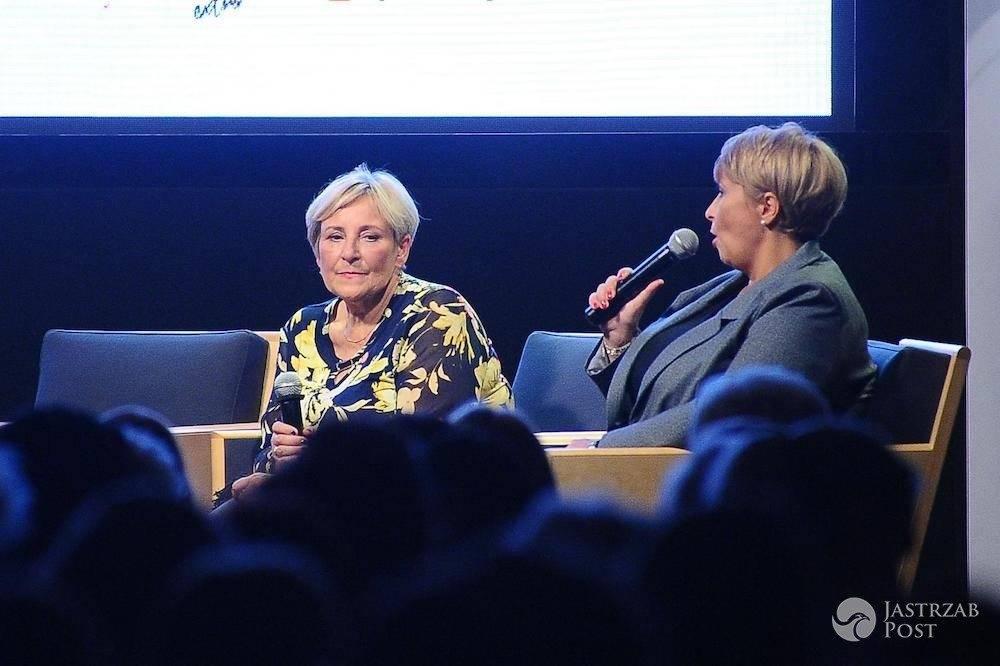 Krystyna Przybylska i Agnieszka Kubera na spotkaniu promującym książkę