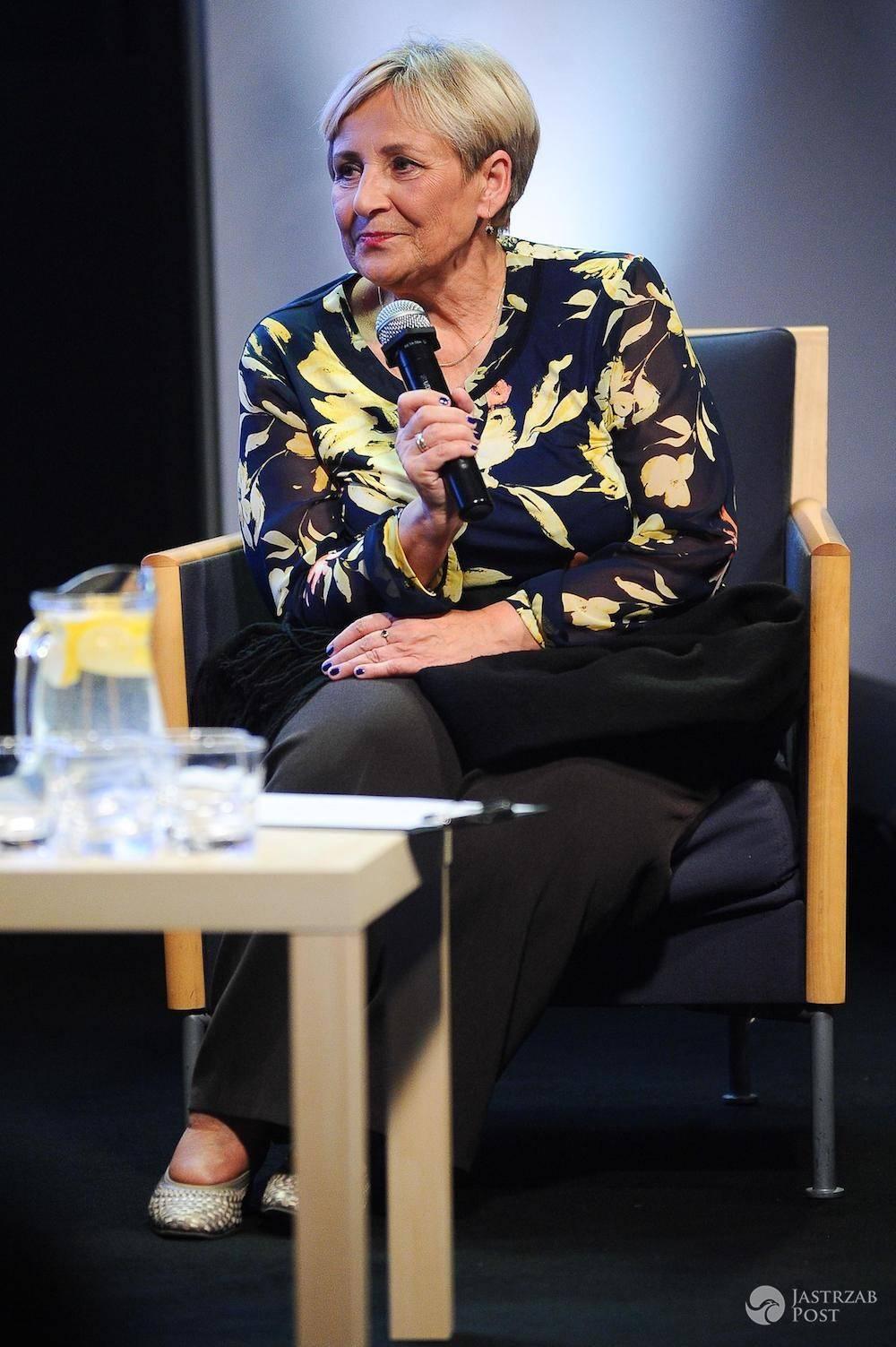 Krystyna Przybylska na spotkaniu promującym książkę