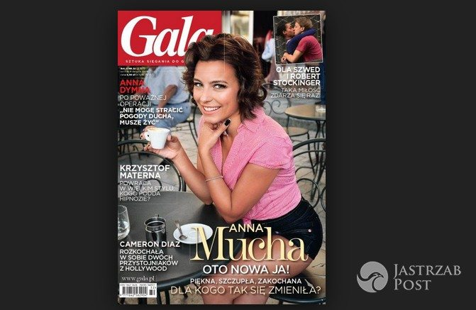"Anna Mucha na okaldce magazynu ""Gala"""